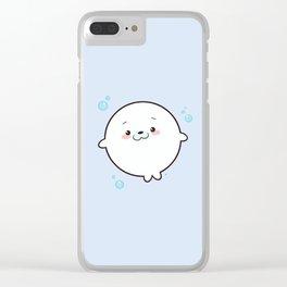Baby Seal Kawaii Clear iPhone Case