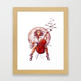 Cello Girl Framed Art Print