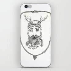 Forest man iPhone & iPod Skin