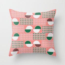 Retro construct Throw Pillow