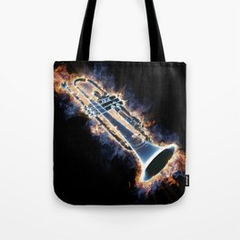 Fire trumpet in concert Tote Bag