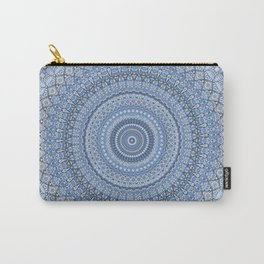 Blue Mandala Meditation Pattern Carry-All Pouch
