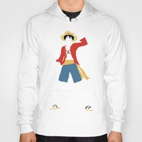 luffy Hoodies featuring Monkey D Luffy by JHTY