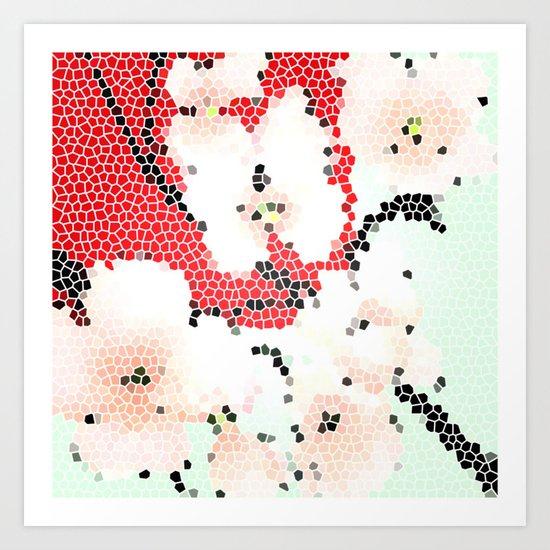 Mosaic Floral Art Print