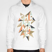 sparkle Hoodies featuring Christmas Sparkle by louandthetwin