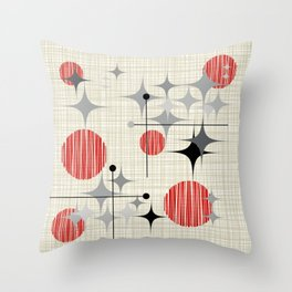Starbursts and Globes 2 Throw Pillow