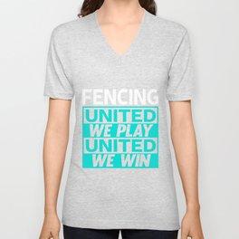 Fencing Unisex V-Neck
