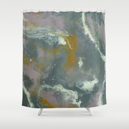 Geode River Resin Painting Shower Curtain