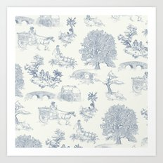Shire Toile Art Print