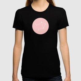 Libra Star Sign Soft Pink Circle T-shirt