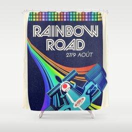 Rainbow Road Grand Prix Shower Curtain