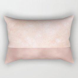 Rose-Gold Metallic and White Rose Marble Rectangular Pillow