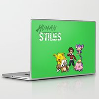 stiles stilinski Laptop & iPad Skins featuring PokeWolf: Stiles Stilinski by Trickwolves