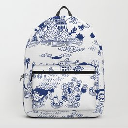 FLOOD IN ANTIQUE CHINESE PORCELAIN Backpack