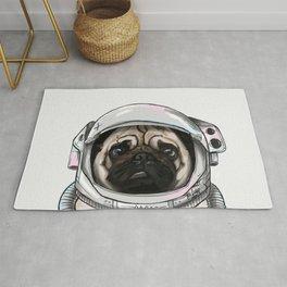 Pug Astronaut Rug