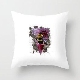 Bee Vibrant Throw Pillow