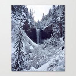 Snowy Tamanawas Falls Canvas Print