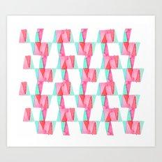 Cheery Triangles Art Print