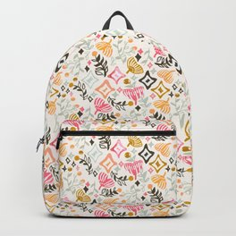 Abstract Autumn Ginkgo and Berry Pattern Backpack