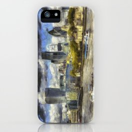 The River Thames And City Art iPhone Case