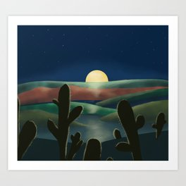 Desert land Art Print