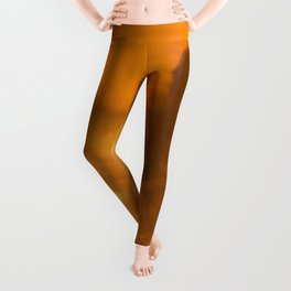 Pumpkin Watercolor Abstract Leggings