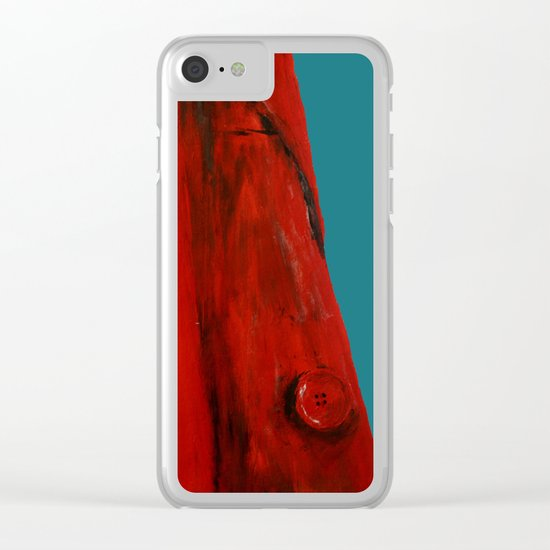 Red Coat Blue Edit Clear iPhone Case