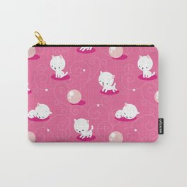 Cat Pink Carry-All Pouch