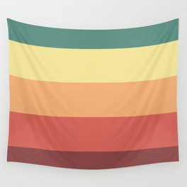 Retro Stripes Wall Tapestry
