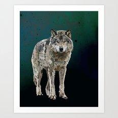 WOLF: THE SILVER HUNTER Art Print