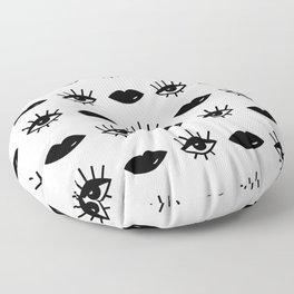 Black Eyes & Lips Floor Pillow