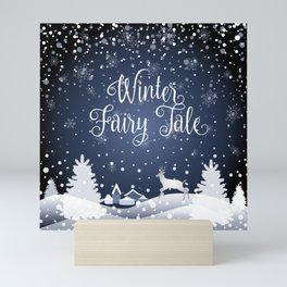 Christmas Winter Fairy Tale Fantasy Snowy Forest - Collection Mini Art Print