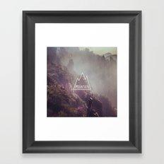 Mountain Lettering Framed Art Print
