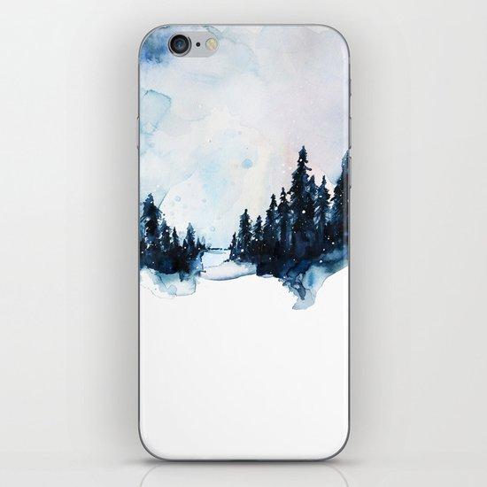 Winter Watercolor iPhone Skin