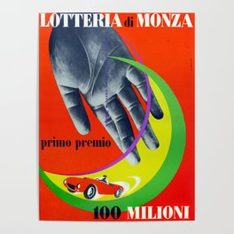 Vintage 1960s Monza Race Poster Poster