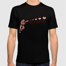 Heart Attack - Master Chief - Halo MEDIUM Mens Fitted Tee Black