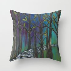 Illuminated Path Throw Pillow