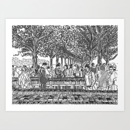 Book Fair Art Print