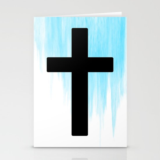 Ombre - Blue - Cross Stationery Cards