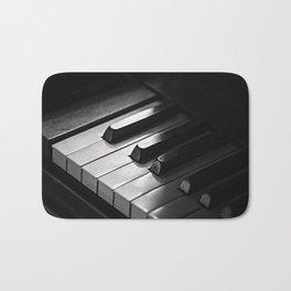 Black & White Piano Keys Bath Mat