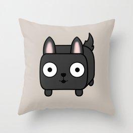 German Shepherd Loaf in Black Throw Pillow