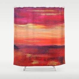 The Golden Lining Shower Curtain
