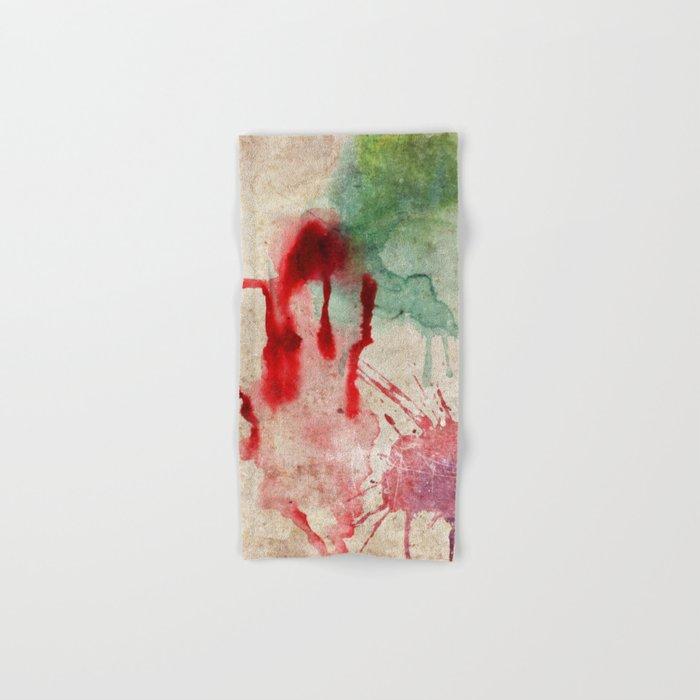 Green & Red Color Splash Hand & Bath Towel