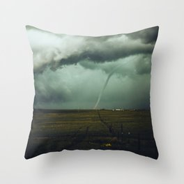 Tornado Alley (Color) Throw Pillow
