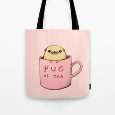 Pug of Tea Tote Bag