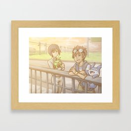 that one repeated background Framed Art Print