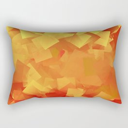 Cubism in orange Rectangular Pillow