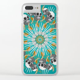 Baboon Mandala Clear iPhone Case