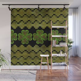 Shamrock Four-leaf clover with Triquetra Wall Mural