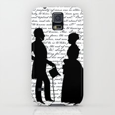 Pride and Prejudice design - White Galaxy S5 Slim Case